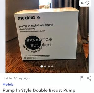 Medela double breasted pump